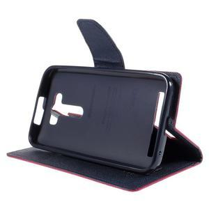 Diary štýlové puzdro pre Asus Zenfone 2 Laser - rose - 4