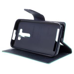 Diary štýlové puzdro na Asus Zenfone 2 Laser - azurové - 4