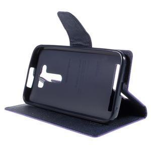 Diary štýlové puzdro na Asus Zenfone 2 Laser - fialové - 4