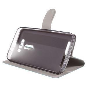 Horse puzdro pre mobil Asus Zenfone 2 Laser - zelenomodré - 4