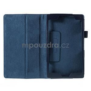 Koženkové puzdro pre tablet Asus ZenPad 7.0 Z370CG - tmavomodré - 4