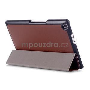 Trojpolohové puzdro pre tablet Asus ZenPad 8.0 Z380C - hnedé - 4