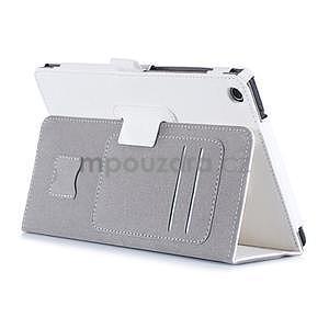 Polohovatelné koženkové puzdro na tablet Asus ZenPad S 8.0 - biele - 4