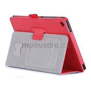 Polohovatelné koženkové puzdro pre tablet Asus ZenPad S 8.0 -  červené - 4