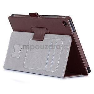 Polohovatelné koženkové puzdro pre tablet Asus ZenPad S 8.0 -  hnedé - 4