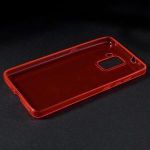 Transparentný gélový obal na telefón Honor 7 - červený - 4