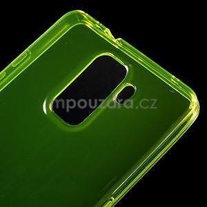 Transparentný gélový obal na telefón Honor 7 - žltý - 4