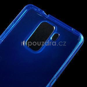 Transparentný gélový obal na telefón Honor 7 - modrý - 4