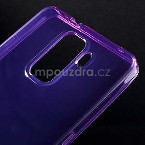 Transparentný gélový obal na telefón Honor 7 - fialový - 4
