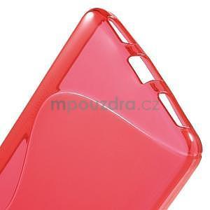 Červený gélový kryt S-line pre Huawei Honor 7 - 4