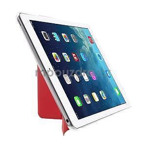 Origami ochranné puzdro pre Apple iPad Air - červené - 4