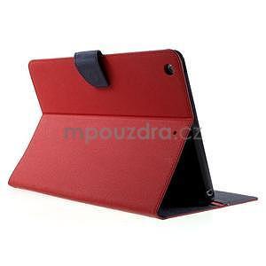 Diary peňaženkové puzdro na iPad Air - červené - 4