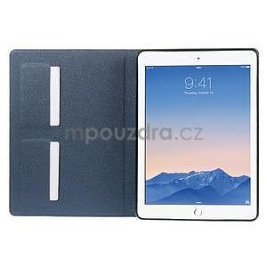 Elegant polohovateľné puzdro na iPad Air 2 - tmavomodré - 4