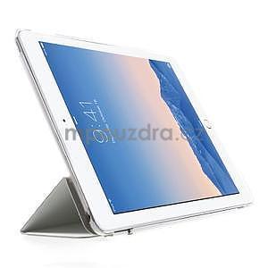 Trifold polohovateľné puzdro na iPad Air 2 - biele - 4