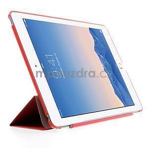 Trifold polohovateľné puzdro na iPad Air 2 - červené - 4