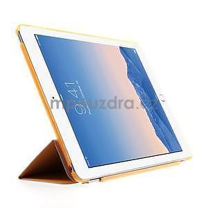 Trifold polohovateľné puzdro pre iPad Air 2 - oranžové - 4