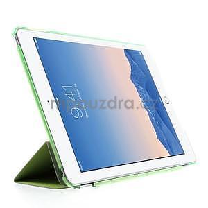 Trifold polohovateľné puzdro pre iPad Air 2 - zelené - 4