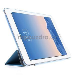 Trifold polohovateľné puzdro pre iPad Air 2 - modré - 4