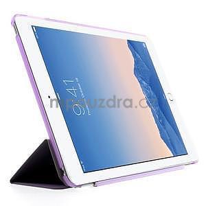 Trifold polohovateľné puzdro na iPad Air 2 - fialové - 4