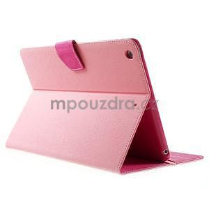 Diary peňaženkové puzdro pre iPad Air - ružové - 4
