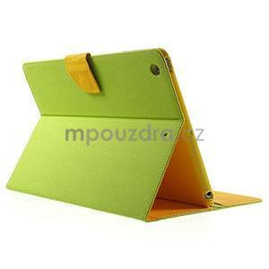 Diary peňaženkové puzdro na iPad Air - zelené - 4
