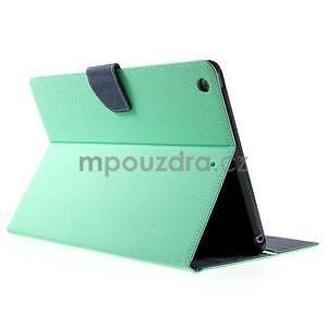Diary peňaženkové puzdro na iPad Air - azúrové - 4