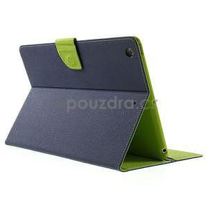 Diary peňaženkové puzdro na iPad Air - tmavomodré - 4