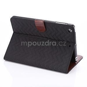Texture luxusné puzdro pre iPad Mini 3, iPad Mini 2 a iPad Mini - čierne - 4