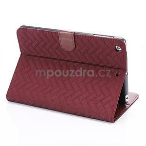 Texture luxusné puzdro pre iPad Mini 3, iPad Mini 2 a iPad Mini - vínové - 4