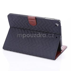 Texture luxusné puzdro na iPad Mini 3, iPad Mini 2 a iPad Mini - modré - 4
