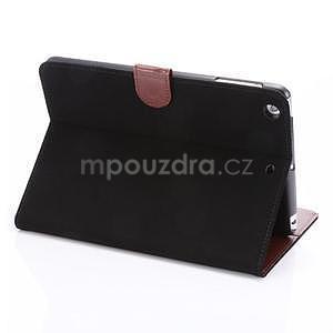 Cloth luxusné puzdro na Ipad Mini 3, Ipad Mini 2 a Ipad Mini - čierne - 4