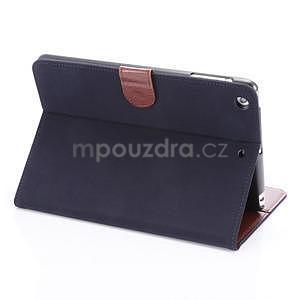 Cloth luxusné puzdro na Ipad Mini 3, Ipad Mini 2 a Ipad Mini - tmavomodré - 4