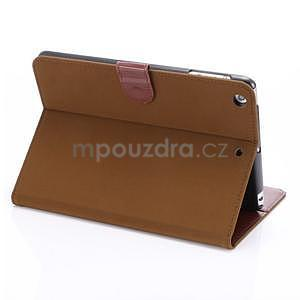 Cloth luxusné puzdro na Ipad Mini 3, Ipad Mini 2 a Ipad Mini - hnedé - 4