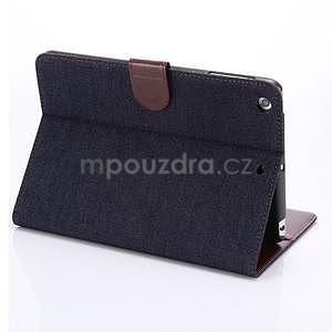 Jeans luxusné puzdro pre iPad Mini 3, iPad Mini 2 a iPad Mini - čiernomodré - 4