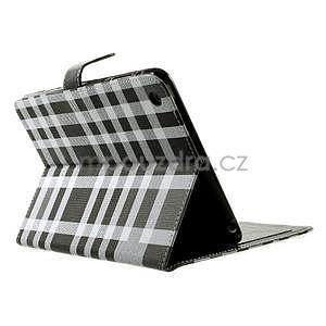 Kockované puzdro na Apple iPad Mini 3, iPad Mini 2 a iPad Mini - čierne - 4