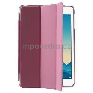 Classic troj polohové puzdro pre iPad Mini 3, ipad Mini 2 a na iPad Mini -  ružové - 4