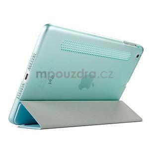 Lines polohovateľné puzdro na iPad Mini 3 / iPad Mini 2 / iPad mini - cyan - 4