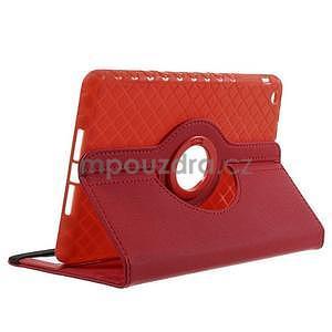 Circu otočné puzdro na Apple iPad Mini 3, iPad Mini 2 a ipad Mini - červené - 4