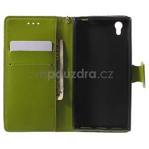 Supreme peňaženkové puzdro na Lenovo P70 - hnedé/zelené - 4