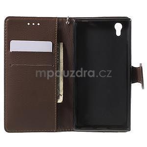 Supreme peňaženkové puzdro pre Lenovo P70 - čierné/hnedé - 4