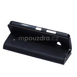 Ochranné peňaženkové puzdro Microsoft Lumia 640 - čierne - 4