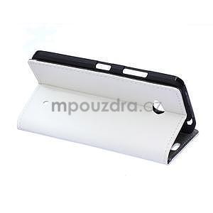 Ochranné peňaženkové puzdro Microsoft Lumia 640 - biele - 4