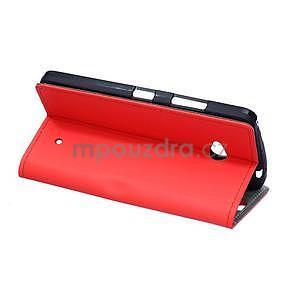 Ochranné peňaženkové puzdro Microsoft Lumia 640 - červené - 4