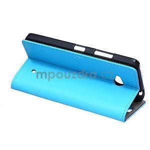 Ochranné peňaženkové puzdro Microsoft Lumia 640 - modré - 4