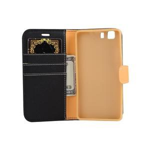 Clothy PU kožené puzdro pre mobil Doogee X5 - čierne - 4