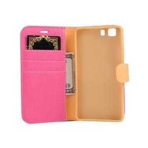 Clothy PU kožené pouzdro na mobil Doogee X5 - rose - 4