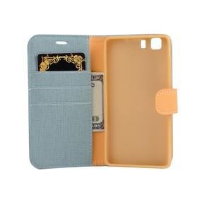 Clothy PU kožené pouzdro na mobil Doogee X5 - světlemodré - 4