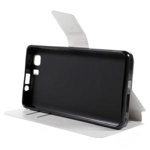 Peněženkové PU kožené pouzdro na mobil Doogee X5 - bílé - 4