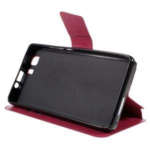 Peňaženkové PU kožené puzdro pre mobil Doogee X5 - rose - 4
