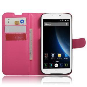 Peňaženkové puzdro pre mobil Doogee X6 - rose - 4